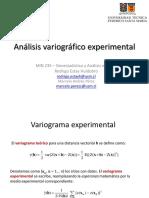 4. Análisis Variográfico - Experimental