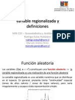 2. Variable Regionalizada y Definiciones