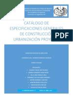 Catalogo de Especificaciones