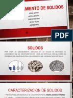 Manejo y almacenamiento de sólidos