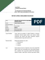 Review Jurnal Ilmiah Saham
