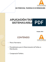 Tarifas Sistemas Aislados (AE)