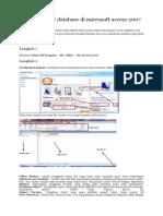 Cara Membuat Database Di Microsoft Access 2007