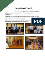 Cultural Week 2017