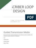Subscriber Loop Design Lecture