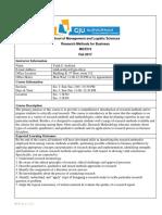 Research Methods_ Syllabus _Fall 17