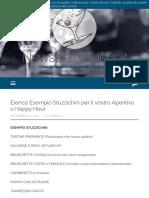 Elenco Esempio Stuzzichini per il vostro Aperitivo o Happy Hour | NewsBartenders