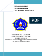 Program Kerja UN MTS 2017
