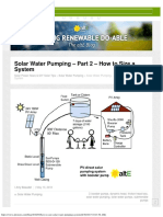 How to Size a Solar Water Pumping System