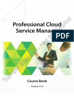 Professional Cloud Service Manager - Course Book - Sample