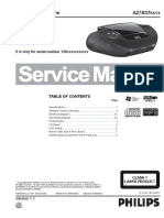 Philips AZ 1837 Service Manual Philips