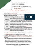 APPLICATION Minnesota Board of FE license