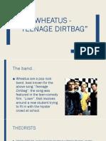 """Analysis of """"Teenage Dirtbag"""""""