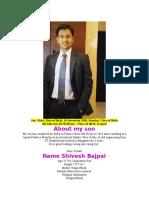 Brahmin Groom 25 29 Metrocity Iit Iim Nit(Pooja)(Arun Sharma)1369 16-2-17