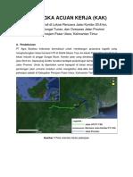 KAK Survei Topografi Jalan Koridor Muan
