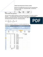 NPV With Multiple Compounding Periods and Uniform Cash Flows