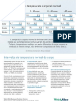 Faixas de Temperatura Corporal Normal