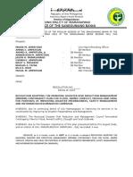 Sb Resolution Adopting Contingency Plan