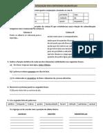 Ficha de Gramatica 9º Ano