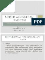 Merjer, Akuisisi Dan Divestasi Edit
