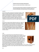 Los Instrumentos Musicales Peruanos Prehispánicos