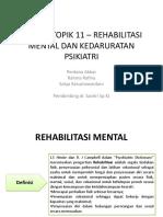Diskusi Topik 11 Rehabilitasi Mental Dan Kedaruratan