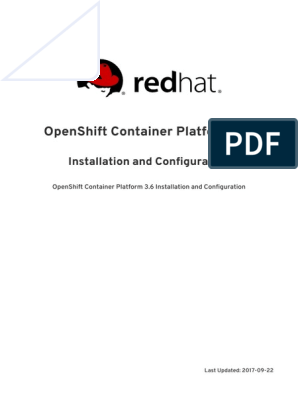 Openshift Container Platform 3 6: Installation And Configuration
