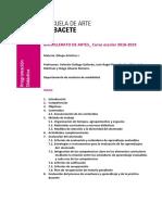 Programación Didáctica Dibujo Artístico. 1º Bachillerato. 2017-2018.