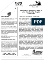 March 2005 Shorelines Newsletter Choctawhatchee Audubon Society