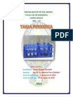 Lab. Quimica Inorganica, Tabla Periodica