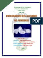 Lab. Quimica Inorganica, Alumbre de Aluminio