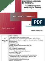Clase 1 Introducción a La Microeconomia Agosto 21 2017