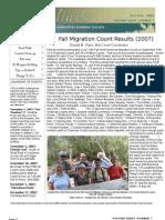 October-November 2007 Shorelines Newsletter Choctawhatchee Audubon Society