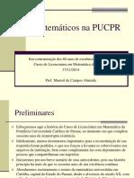 Matemáticos na História da PUCPR