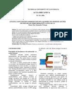 Studiul Infulenţei Dimensiunilor Galeriei de Admisie Asupra Incidilor de Performanţă a Unui m.a.s.
