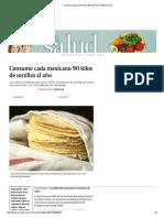Consume Cada Mexicano 90 Kilos de Tortillas Al Año