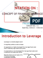 Financial Liverage Final
