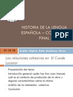 Historia de La Lengua Española – Coloquio Final