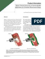 Using Allegro Current Sensor ICs in Current Divider Configurations for Extended Measurement Range