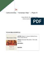 Recensión - Encíclica Paulus VI
