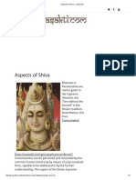 Aspects of Shiva – SivaSakti