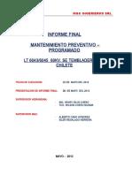 Modelo de Informe de trabajo de media tensión de m&c -6043-6045