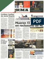 PRIMERAS PLANAS medios impresos NACIONALES MÉXICO 11 oct 2017