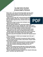 Islam Dan Dunia Pengkomputeran