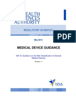 GN-13-R1.1 Guidance on the Risk Classification of General Medical Devices