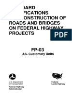 Federal Standard Specifications for Roads and Bridges