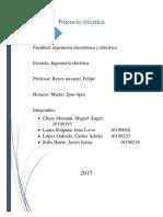 Informe de laboratorio física III Potencia Eléctrica