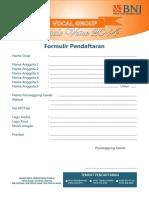 Formulir Lomba VG Bogor 2014