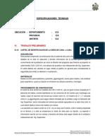 Especificaciones Técnicas Pav.