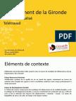 Les Rencontres du Télétravail - Présentation du Département de la Gironde
